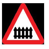 Επίπεδη διασταύρωση με σιδηροδρομική γραμμή με κινητά φράγματα