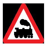 Επίπεδη διασταύρωση με σιδηροδρομική γραμμή χωρίς φράγματα