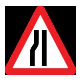 Ο δρόμος στενεύει στα αριστερά