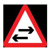 Συμβολή με δρόμο διπλής κυκλοφορίας