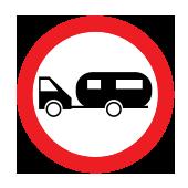 Απαγορεύεται η διέλευση μηχανοκίνητων που σύρουν άλλο όχημα εκτός από δίτροχο ή μονοάξονο