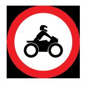 Απαγορεύεται η διέλευση σε μοτοσικλέτες
