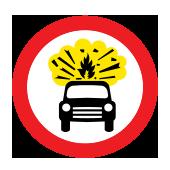 Απαγορεύεται η διέλευση σε οχήματα που μεταφέρουν εκρηκτικές ή εύφλεκτες ύλες