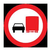 Απαγορεύεται σε φορτηγά να προσπερνούν