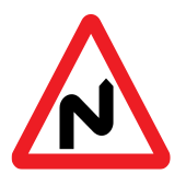 Double bend first to right