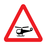 Low-flying helicopter or sudden helicopter noise