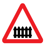 Controlled level crossing (with barrier/gate)