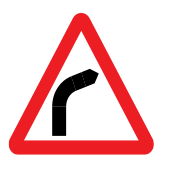Dangerous bend to the right