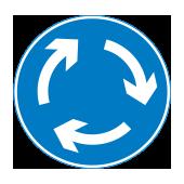 Κυκλική υποχρεωτική διαδρομή σε κυκλικό κόμβο