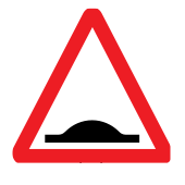 Road hump ahead