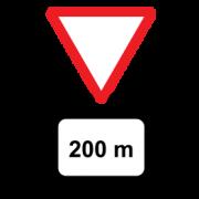Προειδοποίηση (με ένδειξη απόστασης) ότι πλησιάζουμε δρόμο με προτεραιότητα ΔΩΣΕ ΠΡΟΤΕΡΑΙΟΤΗΤΑ