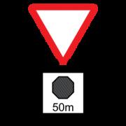Προειδοποίηση (με ένδειξη απόστασης) ότι πλησιάζουμε υποχρεωτική στάση ΣΤΑΜΑΤΑ1