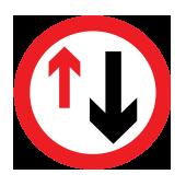 Προτεραιότητα σε οχήματα από την αντίθετη κατεύθυνση