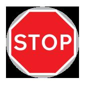ΣΤΑΜΑΤΑ (Υποχρεωτική στάση) για προσωρινά οδικά έργα με χρήση πινακίδας με το χέρι