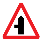 Junctions with secondary roads