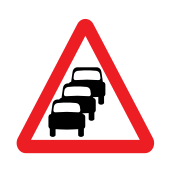 Traffic queues likely ahead