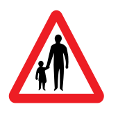 Frequent use of road by pedestrians