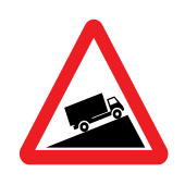 Slow-moving HGV on uphill