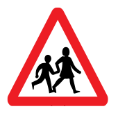 Frequent use of road by childern