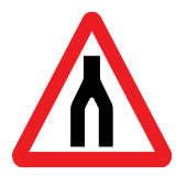 Dual carriageway ends
