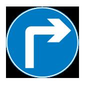 Υποχρεωτική κατεύθυνση πορείας με στροφή δεξιά