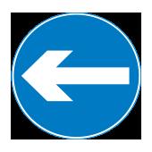 Υποχρεωτική κατεύθυνση πορείας προς τα αριστερά
