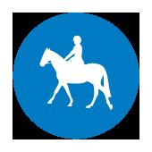 Υποχρεωτικός δρόμος ή χώρος για αποκλειστική χρήση απο όσους ιππεύουν ζώα