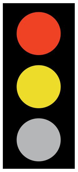 Κόκκινο και Κίτρινο φανός - Η ταυτόχρονη ένδειξη του κόκκινου και του κίτρινου φανού προορίζεται να παράσχει στον οδηγό χρόνο προετοιμασίας για εκκίνηση και σημαίνει επικείμενη αλλαγή της ένδειξης σε πράσινο, χωρίς αυτό να σημαίνει ότι η απαγόρευση της ένδειξης του κόκκινου ακυρώνεται.