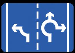 Περιπτώσεις με δύο λωρίδες εισόδου στον κυκλικό κομβό.